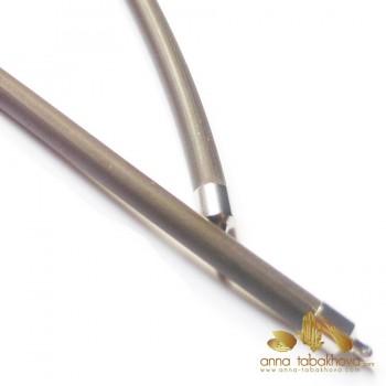 5 mm Marron - Collier interchangeable en caoutchouc