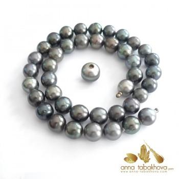 Perles de culture de Tahiti en collier interchangeable avec fermoir