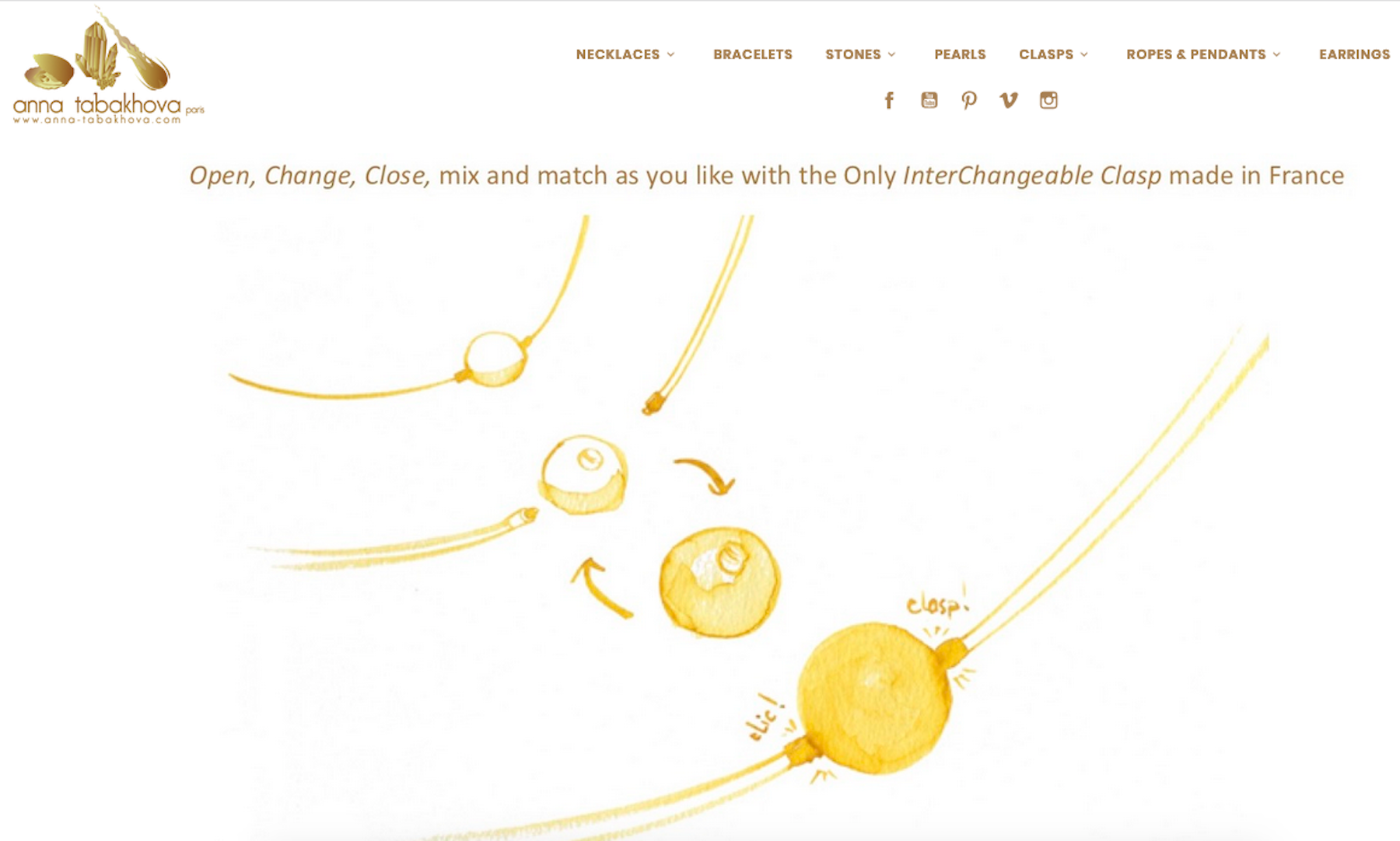 Buy on Line Interchangeable clasps