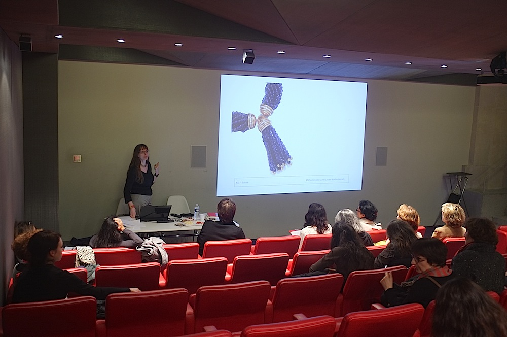 Interchangaeble clasp with a drop, conference, lecture by anna tabakhova, Paris