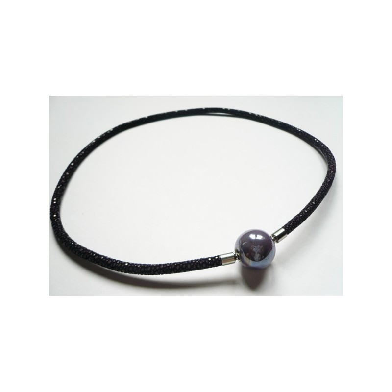 4 mm Black Stingray InterChangeable Necklace