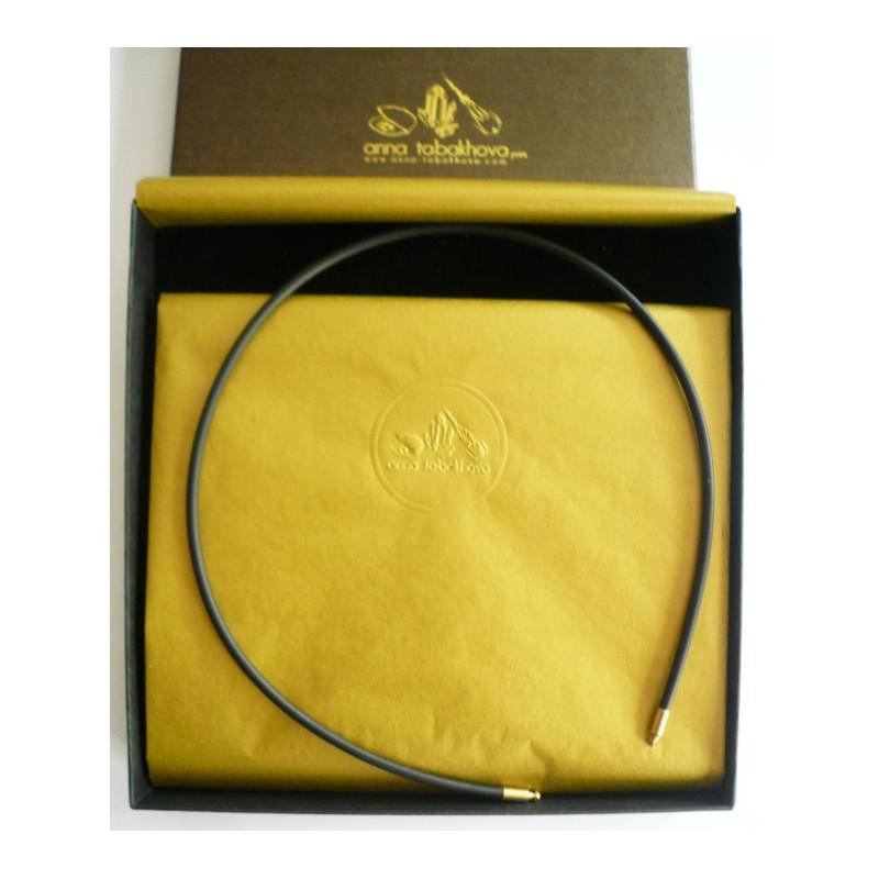 3 mm Black Rubber Necklace