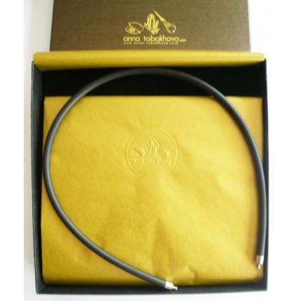 5 mm Black Rubber Necklace