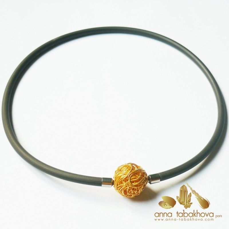 5 mm BROWN Rubber Necklace