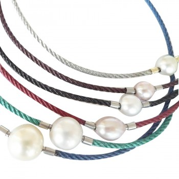 Braided Colored Steel InterChangeable Necklace