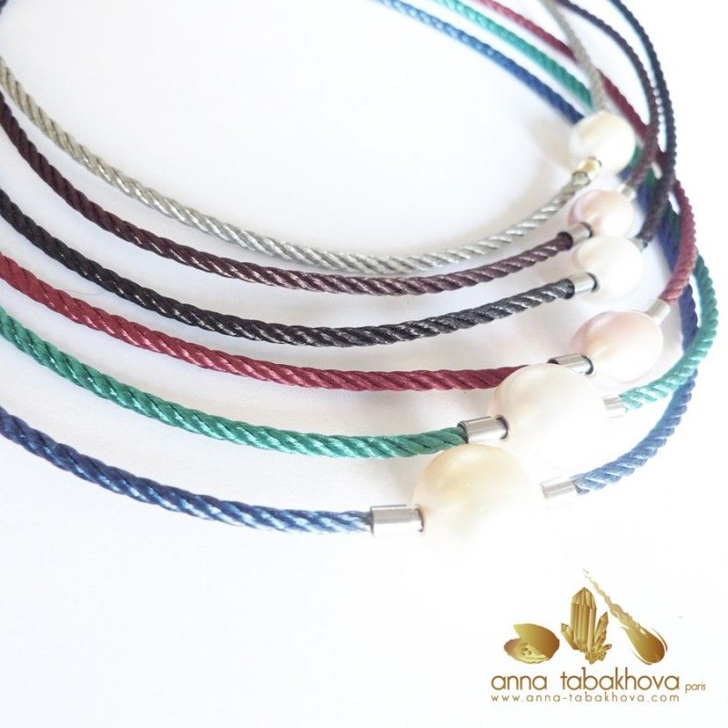 Braided Colored Steel InterChangeable Necklace (one necklace for sale)