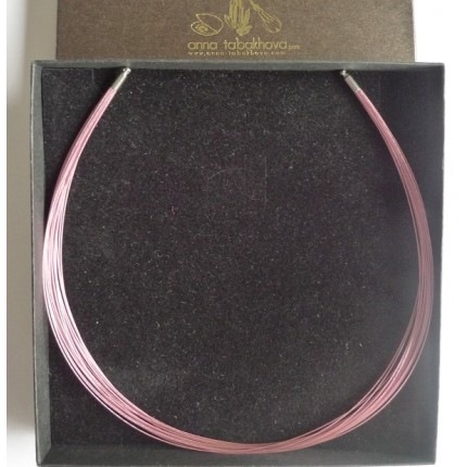 20 PINK nylon coated wires interchangeable necklace as you will get it