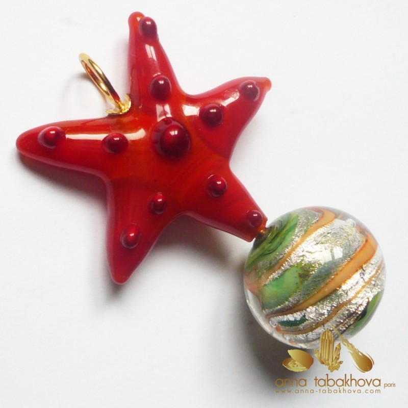 Murano glass set as interChangeable pendant for Clasp