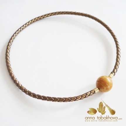 5 mm Braided GOLD Leather InterChangeable Necklace