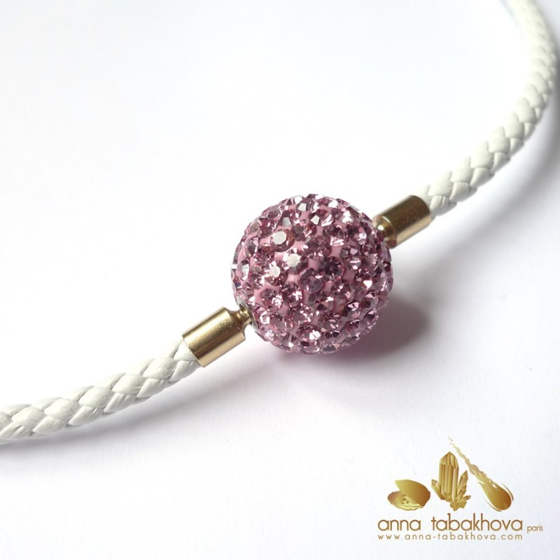Crystal clasp 18 mm LIGHT ROSE