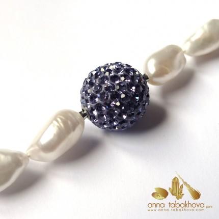 Crystal clasp 18 mm TANZANITE