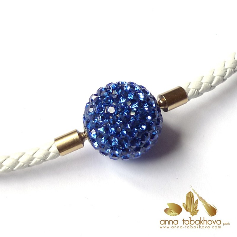 Crystal clasp 18 mm SAPPHIRE