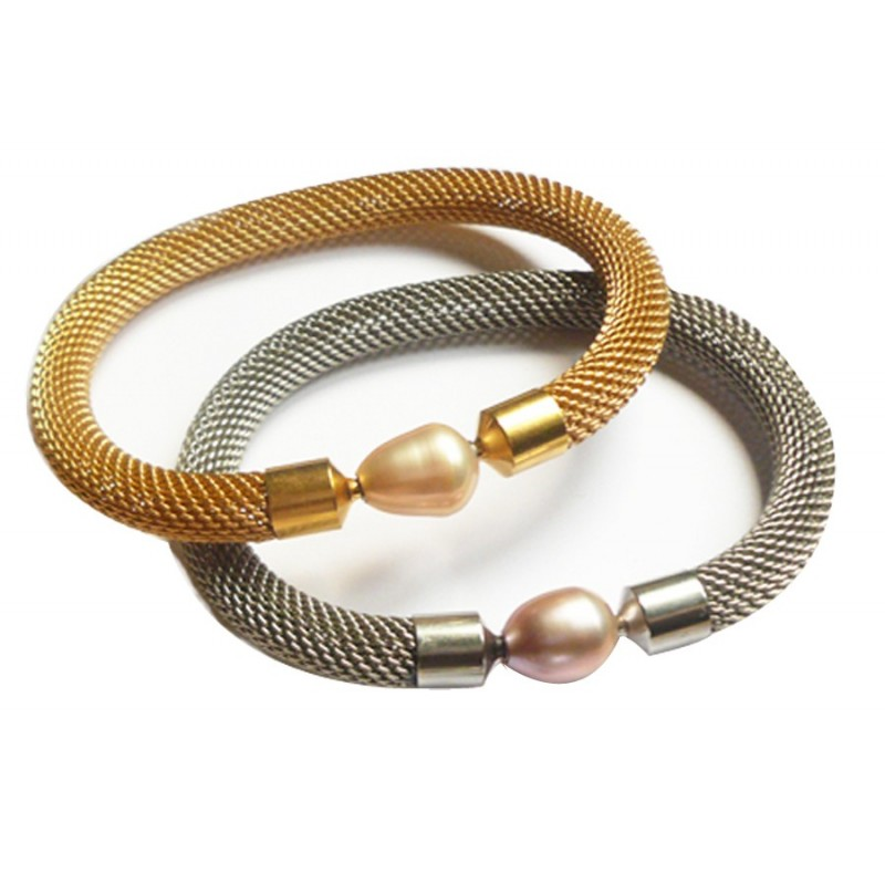 8 mm GOLD PLATED  Mesh Bracelet, one for sale