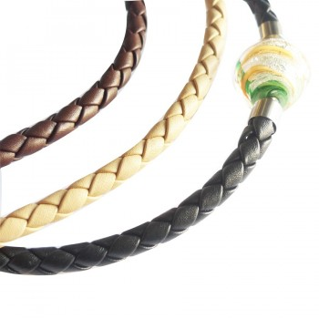 8 mm Braided Leather InterChangeable Necklace