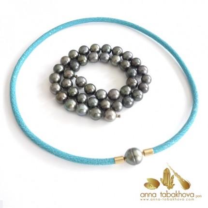 BLACK TAHITI pearl InterChangeable necklace