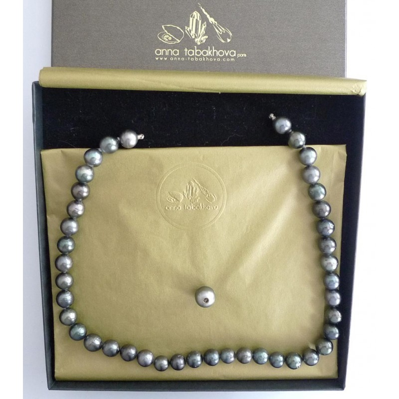BLACK TAHITI pearl InterChangeable necklace