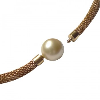 15,9 mm Gold South Seas Pearl as InterChangeable Clasp