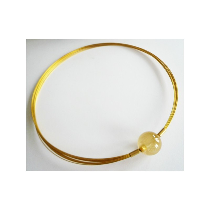 12 steel wire necklace gold plated