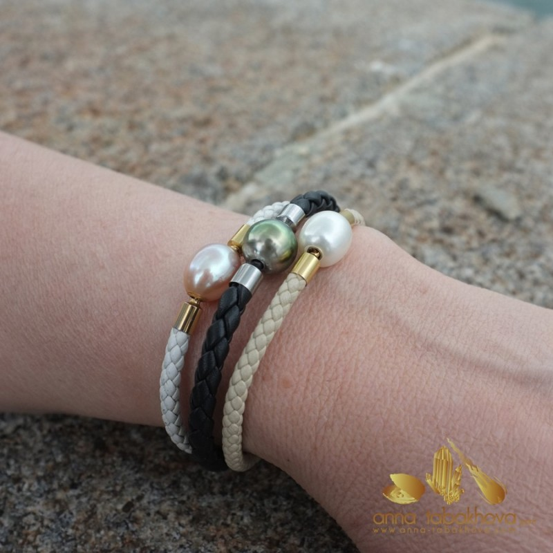 4 mm Braided Leather InterChangeable BRACELET, only one for sale