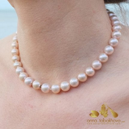 Golden PINK Pearl InterChangeable Necklace with clasp