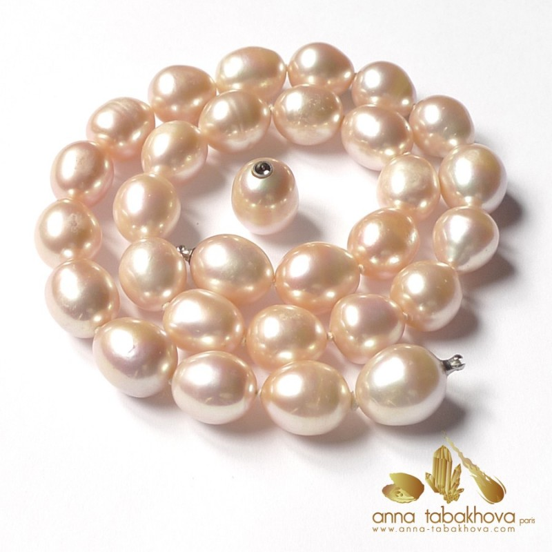 PINK Olive Pearl InterChangeable Necklace with clasp