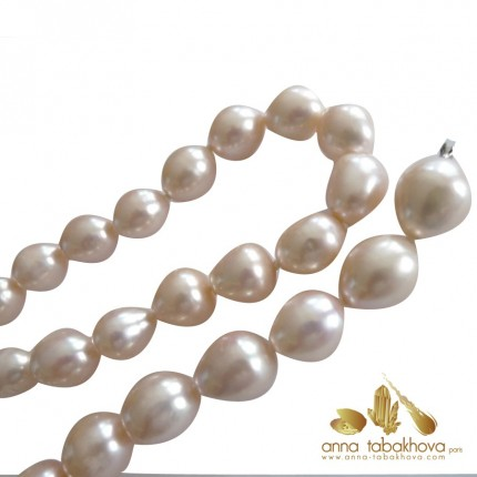 PINK Olive Pearl InterChangeable Necklace - close-up .