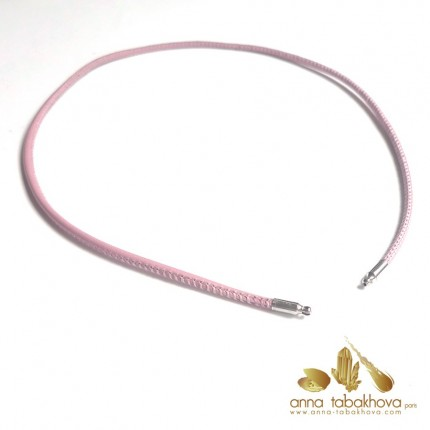 3 mm STITCHED Leather InterChangeable Necklace PINK
