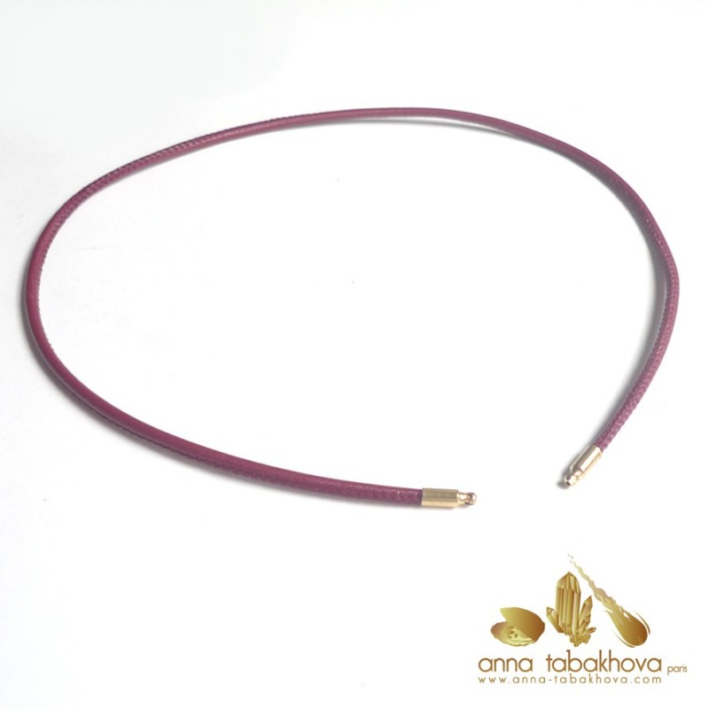 3 mm STITCHED Leather InterChangeable Necklace