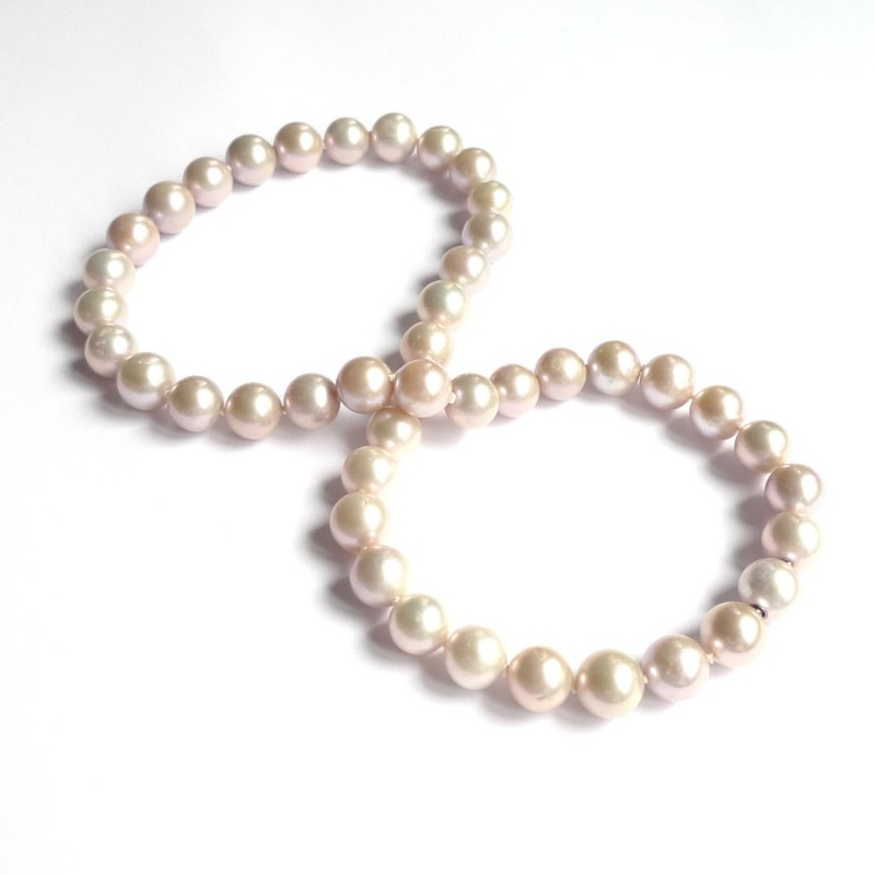 Silvery Golden lavender PINK Pearl InterChangeable Necklace with clasp