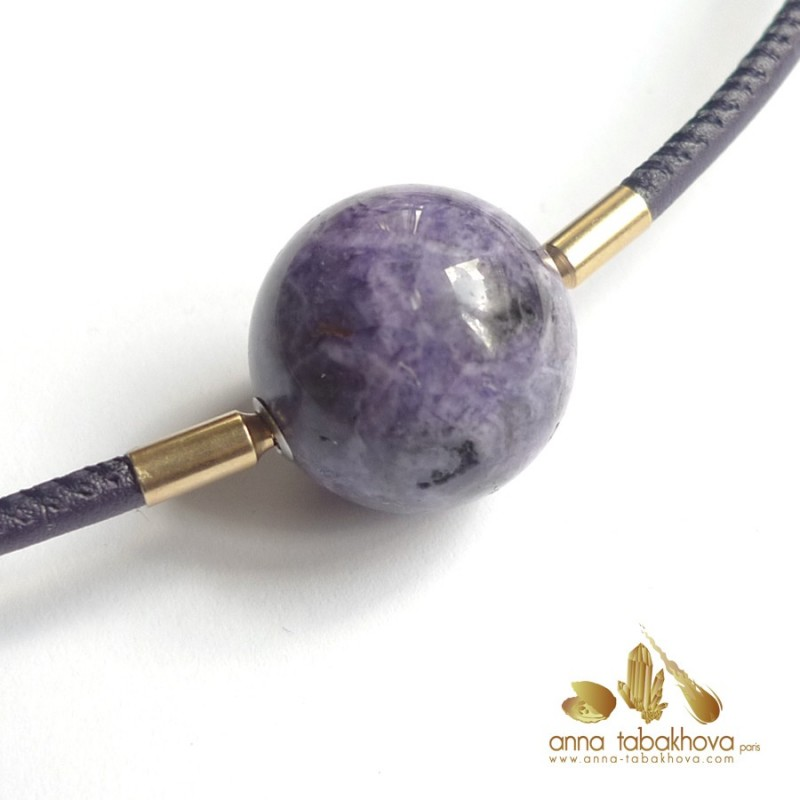 Purple SUGILITE bead as InterChangeable Clasp