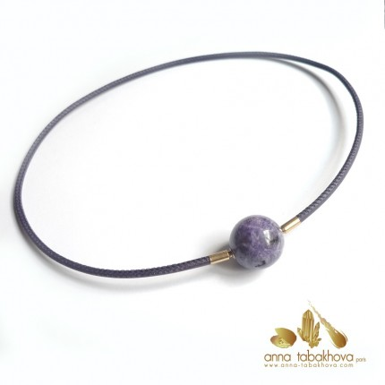 Purple SUGILITE Clasp matched with a purple stitched necklace (sold separatly)