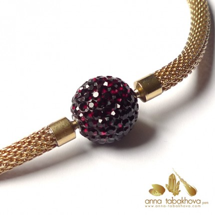 GARNET Crystal clasp 18 mm (10 days delivery notice)