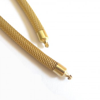 5 mm Gold Plated Steel Mesh...
