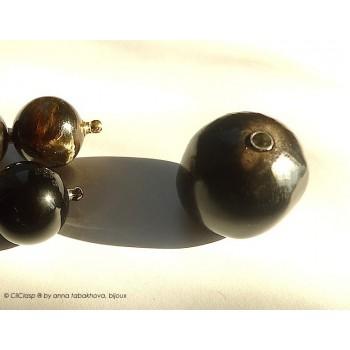Perles d'obsidienne en...