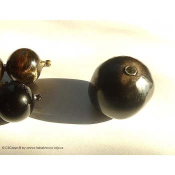 Obsidian bead...