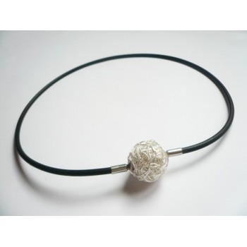 3 mm Black Rubber Necklace