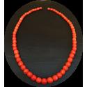 perles corail ancien facettées