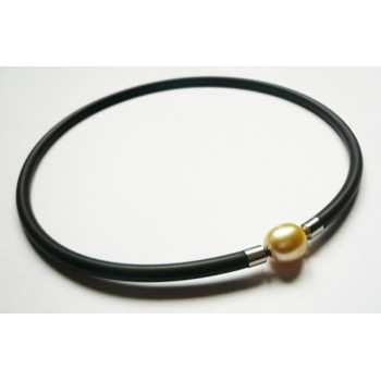 5 mm Black Rubber Necklace