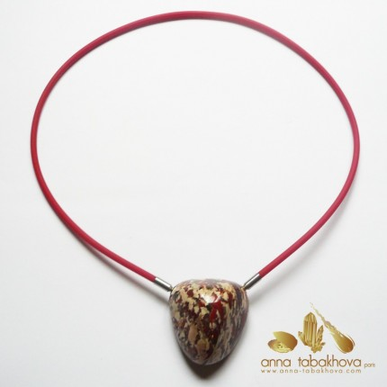 3 mm RED Rubber InterChangeable Necklace