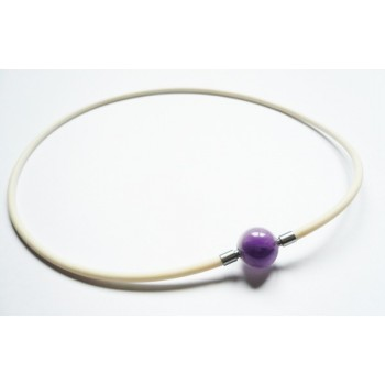 3 mm White Rubber Necklace