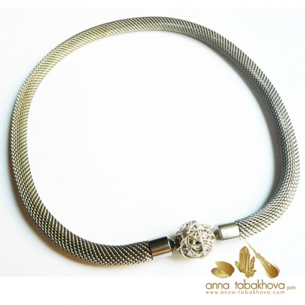 8 mm Steel Mesh InterChangeable Necklace with a silver clasp (sold seperatly)