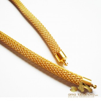 6 mm Gold Plated Steel Mesh InterChangeable Necklace
