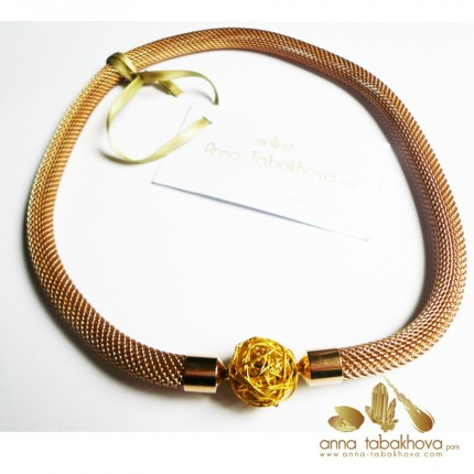8 mm Gold Plated Steel Mesh InterChangeable Necklace