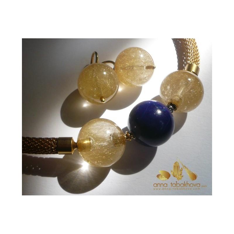 Rutil Quartz earrings (clasps sol separatly)