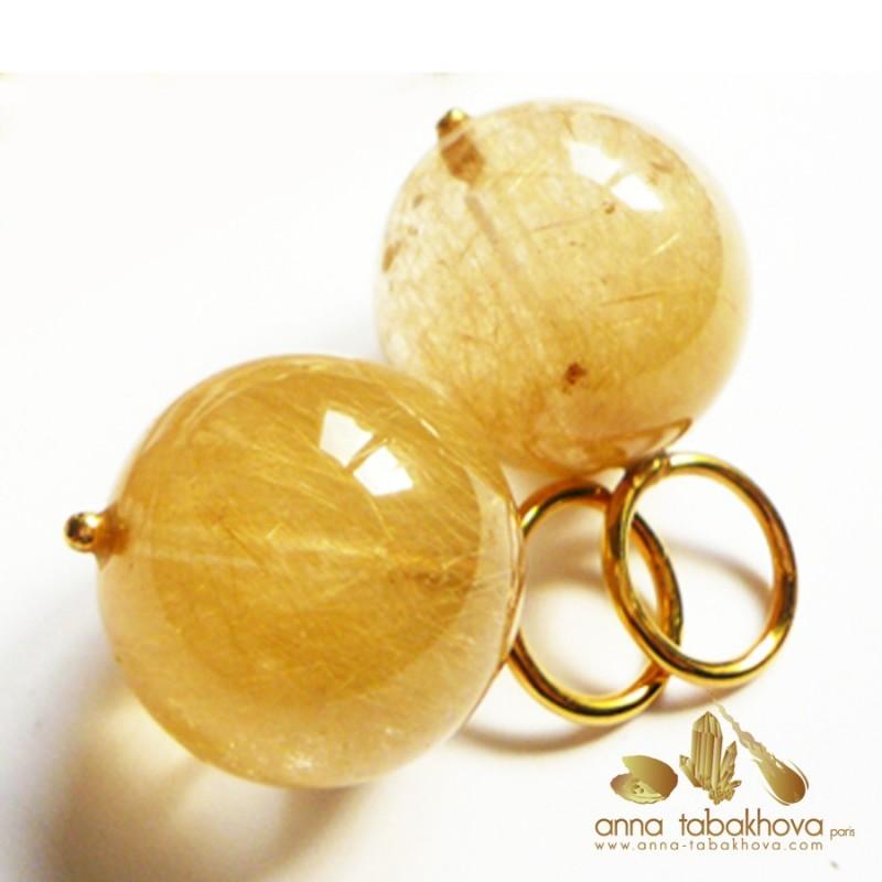 Rutil Quartz earrings as you will get it