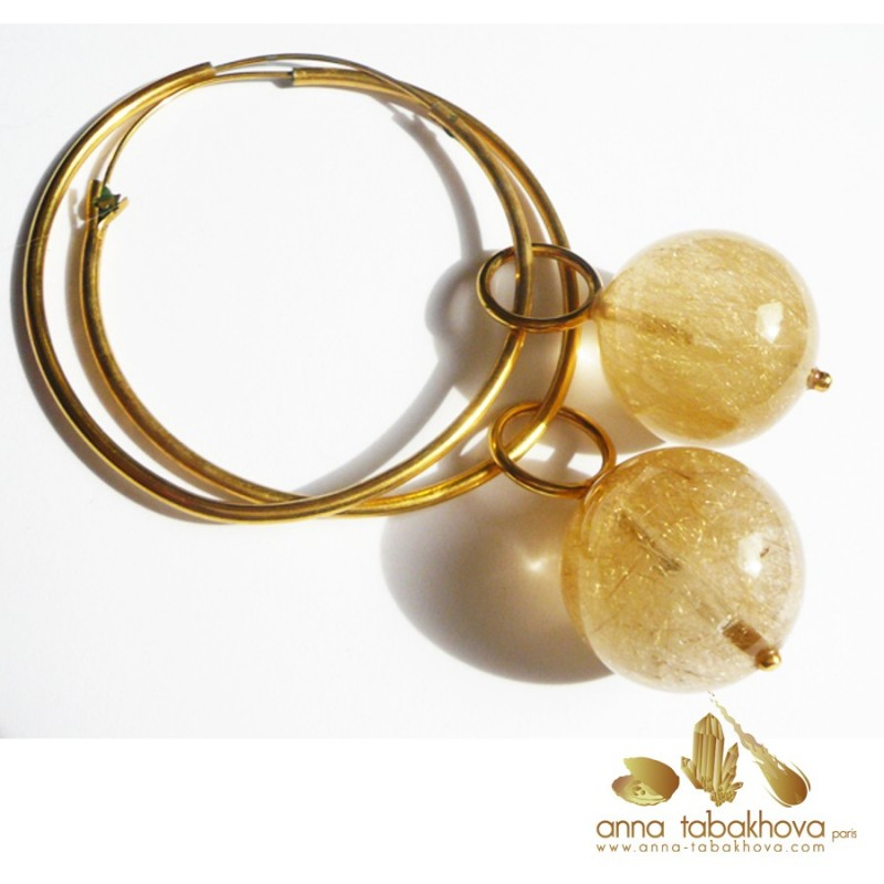 Rutil Quartz earrings  (sold without creoles)
