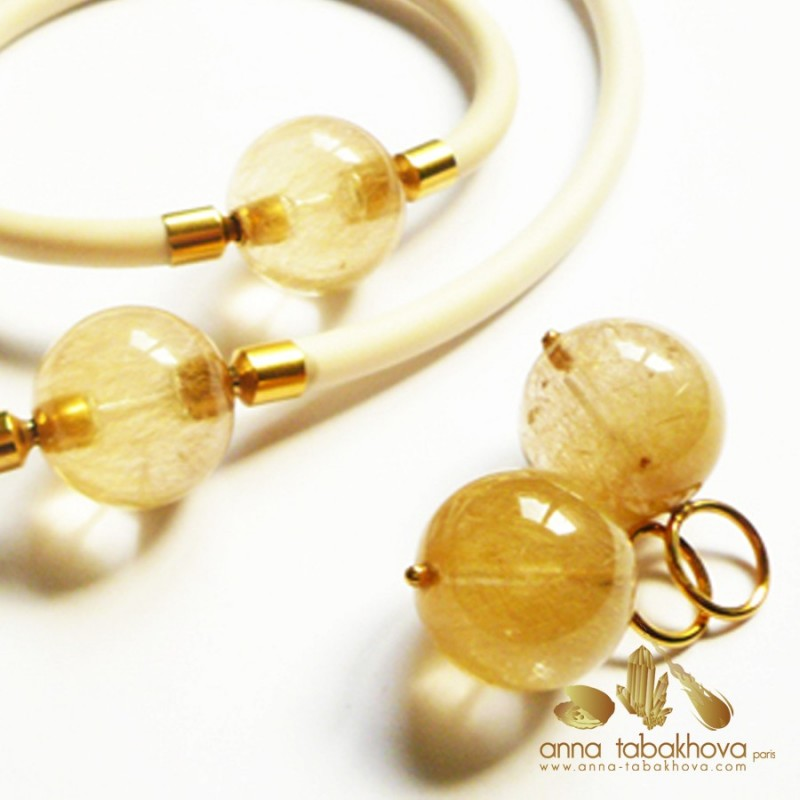 Rutil Quartz earrings matched to Clasp (sold separatly)